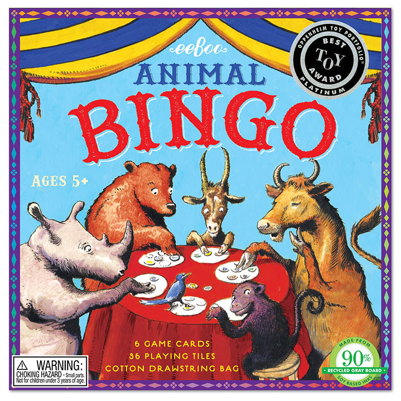 Eeboo Game Animal Bingo