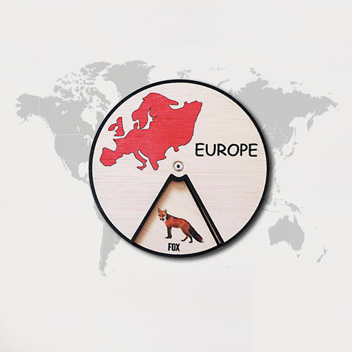 Minisko Learning Wheel Animal & Continents Europe