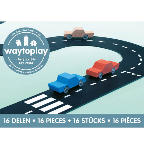 Way To Play Expressway 16 Piece Rubber Road Set