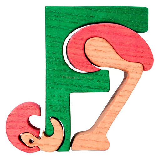 Fauna F for Flamingo Letter Puzzle