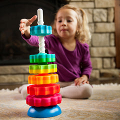 Fat Brain Toys Spin Again Stacking Toy Girl
