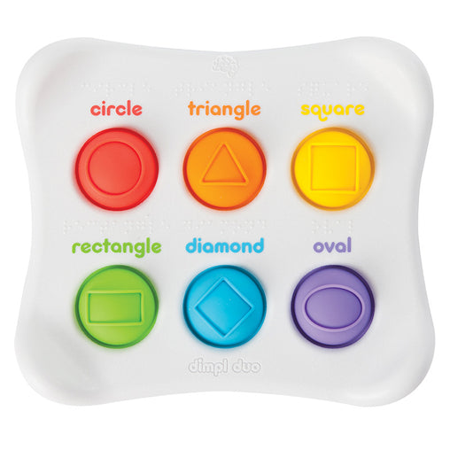 Fat Brain Toys Dimpl Duo Sensory Baby & Toddler Toy Shapes