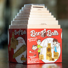 Fat Brain Toys Box and Balls Stacking Game