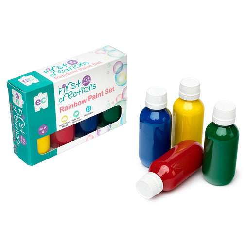 Educational Colours First Creations Rainbow Paint Set of 4