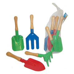 Fun Factory Wood and Metal Garden Tool Set