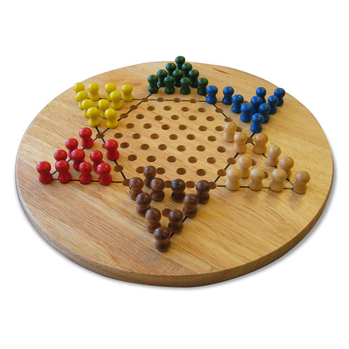 Fun Factory Chinese Checkers Wooden Game