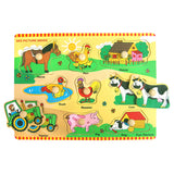 Wooden Peg Puzzle Farm