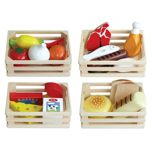 Fun Factory Wooden Play Food in Crates