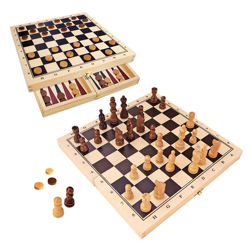 Fun Factory Chess and Checkers Fold-up Game