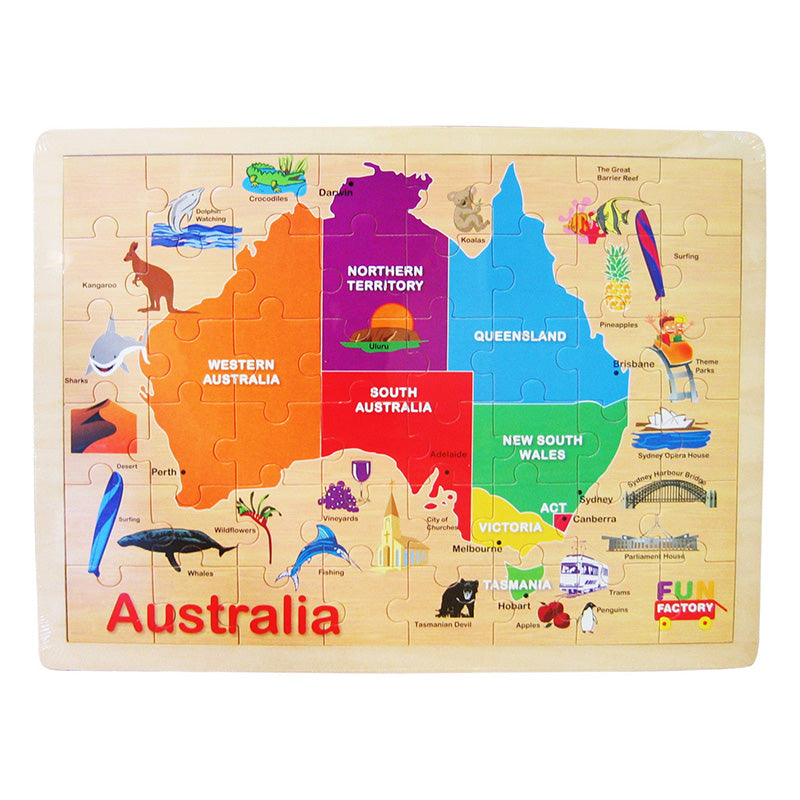 Fun Factory Australian Map Puzzle