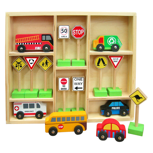 Fun Factory Vehicle and Traffic Sign Set