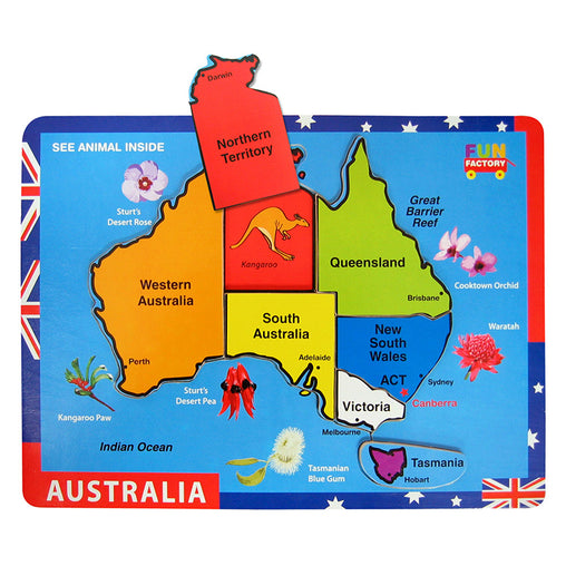 Fun Factory Australia Map Raised Puzzle