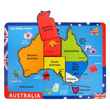 Australia Map Raised Puzzle