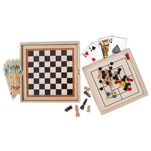 Fun Factory 7 Classic Wooden Games in 1