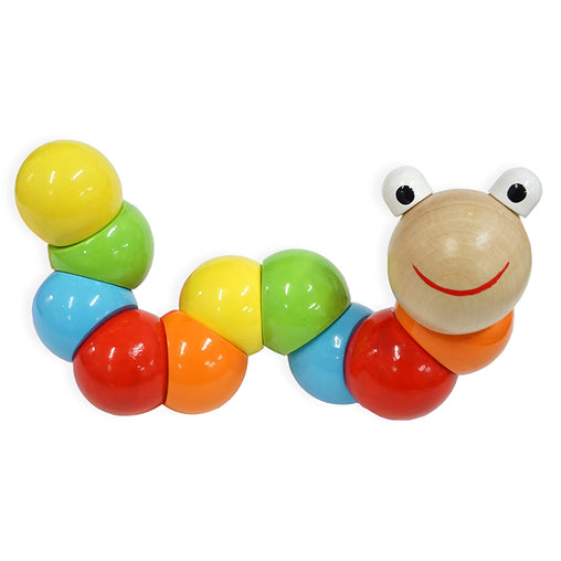 Fun Factory Jointed Wooden Worm Clutch Toy