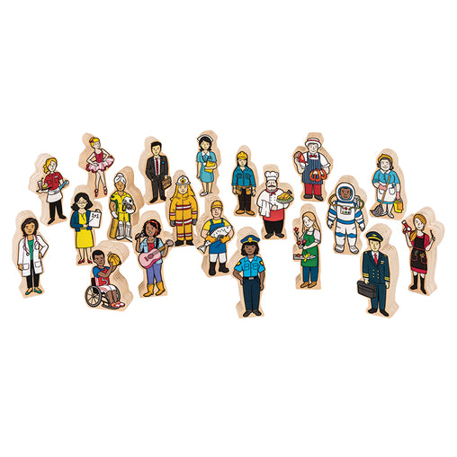 Fun Factory Multicultural People 20 Piece Wooden Set