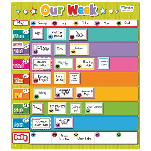 Fiesta Crafts Magnetic Planner Our Week