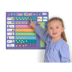 Fiesta Crafts Extra Large Star Reward Chart with Girl