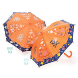 Pirate Ship Orange Colour Changing Umbrella