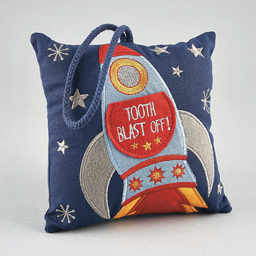 Floss & Rock Rocket Tooth Fairy Cushion