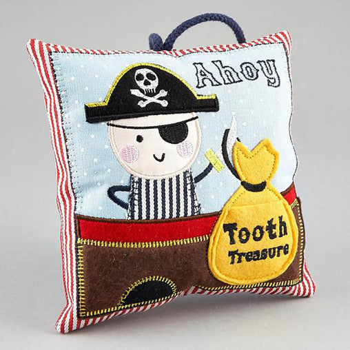 Floss & Rock Pirate Tooth Fairy Cushion