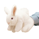 White Bunny Rabbit Hand Puppet