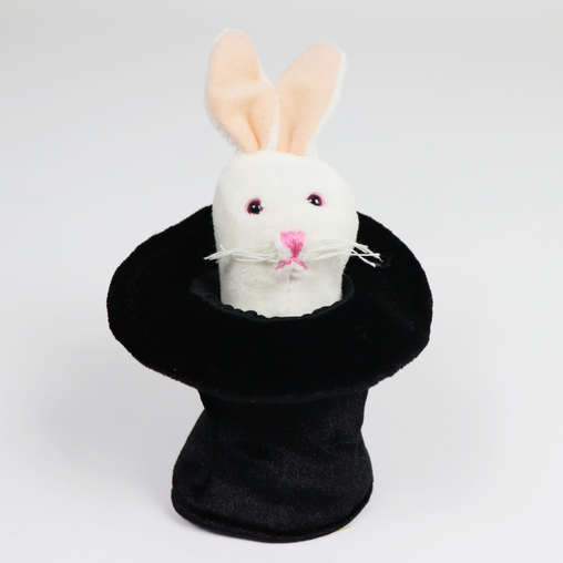 Folkmanis Mini Rabbit in Hat Finger Puppet