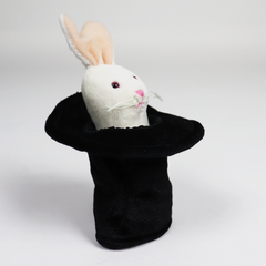 Folkmanis Mini Rabbit in Hat Finger Puppet 2