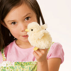 Folkmanis Mini Chick Finger Puppet with Girl
