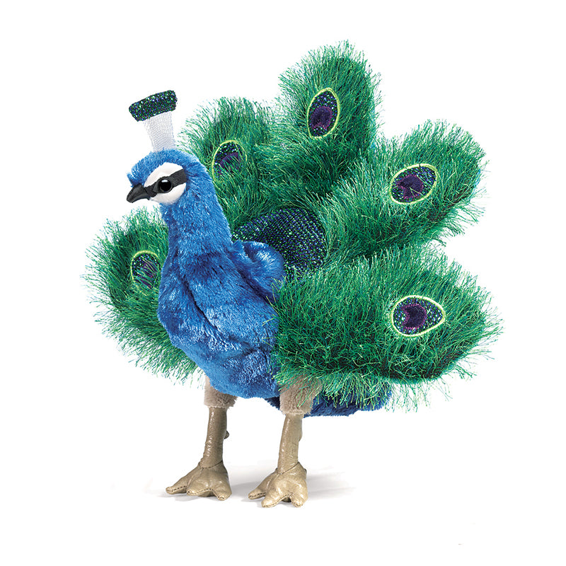 Small Peacock Hand Puppet