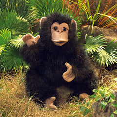 Folkamanis Baby Chimpanzee Hand Puppet Outside
