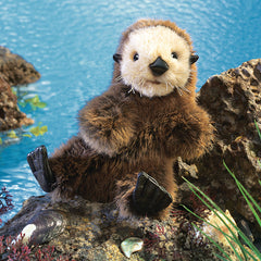 Folkmanis Baby Sea Otter Puppet Water