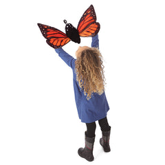 Folkmanis Monarch Butterfly Life Cycle Hand Puppet Girl