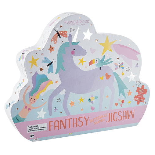 Floss & Rock Fantasy Butterfly Shaped 80 Piece Jigsaw Puzzle Box