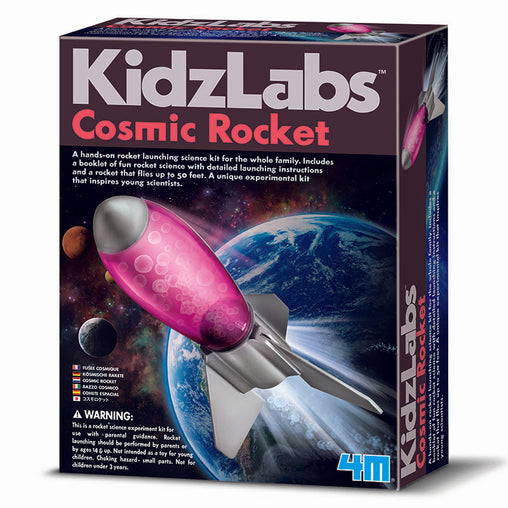 4M Kidzlabs Cosmic Rocket Launching Science Kit Box