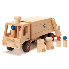 Fagus Wooden Garbage Tipper Truck Contents