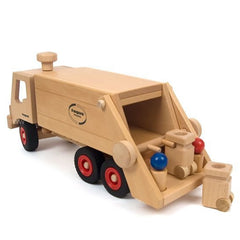 Fagus Wooden Garbage Tipper Truck Back