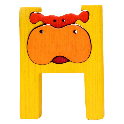 Fauna H for Hippo Letter Puzzle