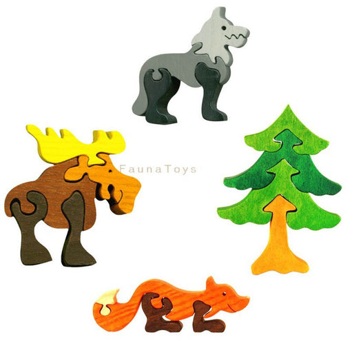 Fauna Mini Wooden Forest Friends Puzzles