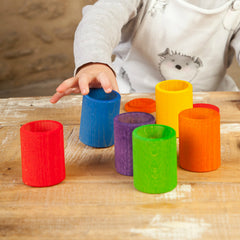 Grapat 6 Coloured Cups with Lids Rainbow Set 4