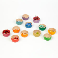 Grapat 12 Bowls Rainbow scattered