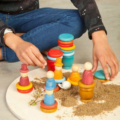 Grapat Nins Summer Peg People Play Set with Sand
