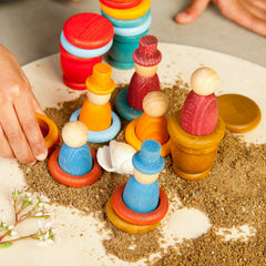 Grapat Nins Summer Peg People Play Set with Sand 2