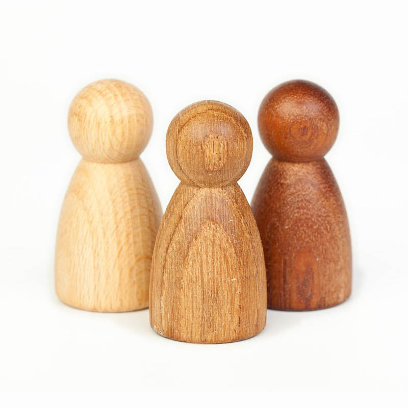 Grapat 3 Natural Nins Wooden Peg People