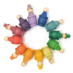 Grapat 12 Mates Cups Rainbow Set with Nins