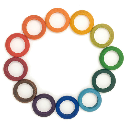 Grapat 12 Loose Waldorf Rings Rainbow