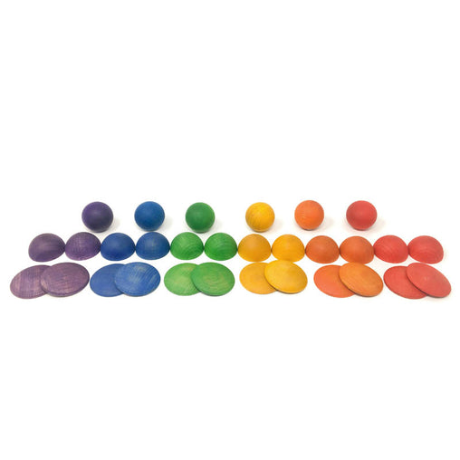 Grapat Round Wooden Shapes Rainbow Play Set