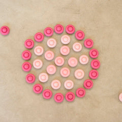 Grapat Mandala Pink Flowers 36 pieces Circle on Floor