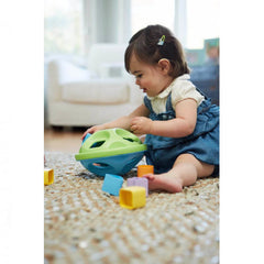 Green Toys Shape Sorter Girl playing