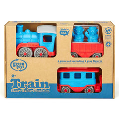 Green Toys Blue Train Recycled Plastic Packaging